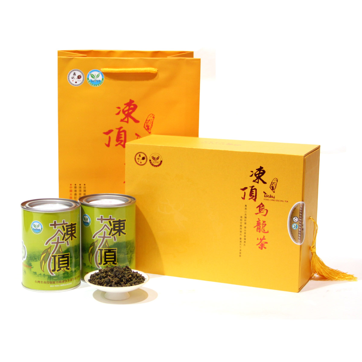Xin Kee Dongding Oolong Tea Taiwan Tea Premium Fragrant Oolong Golden Gift Box 100gX2