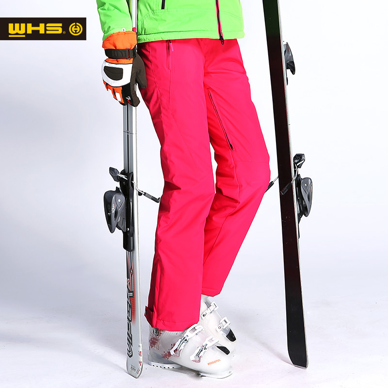 WHS Fashion Sports Winter New Single and Double Edition Skiing Pants Warm Wind-proof Waterproof Cotton Pants Waist Back