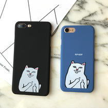 (Any three) iphone5s Mobile Shell Pocket base cat cartoon middle finger 76plus Scrubs