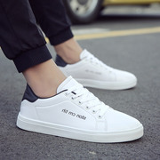 2017 new summer white canvas shoes casual shoes men flat trend of Korean white shoe shoes all-match male shoes
