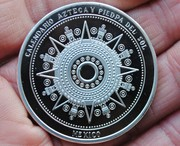 40mm Commemorative Silver Mexico Mayan calendar Aztec Latin America coins commemorative coins