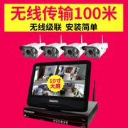 Mobile video monitor system with wireless monitoring equipment and household high-definition network camera integrated machine
