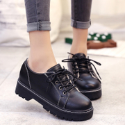 2017 new winter shoes shoes casual shoes flat shoes retro British style students all-match Han Banchao