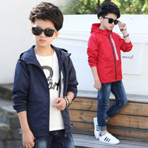 Child long trench coat boys coat Cardigan new students spring boys clothes boys leisure