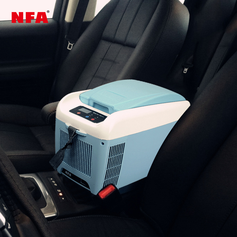 NFA car refrigerator 12v refrigeration mini small heating and cooling box refrigerated ice car home dual-use car