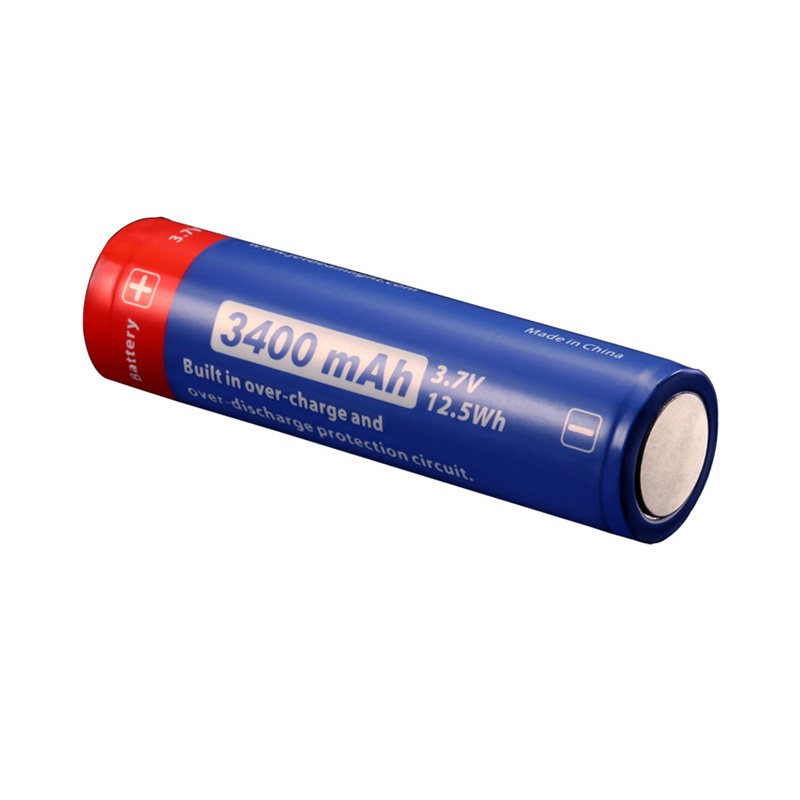 JETBeam 3500 MAH 18650 rechargeable lithium battery pack with protection and high capacity