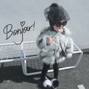 [to resell]7bao exclusive custom Infant Baby Girls Winter temperament all-match faux fur plush
