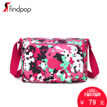 Findpop canvas bag handbag small bag leisure waterproof nylon shoulder bag fashion simple cloth Messenger bag