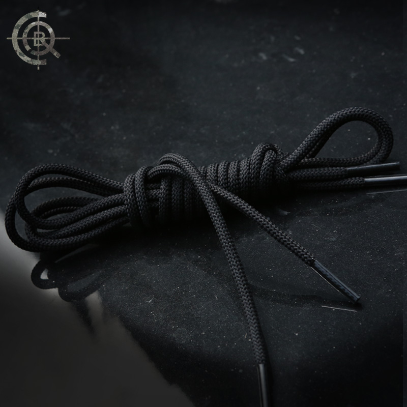CQB polyester yarn textile rough round laces with fine and frequent wear-resistant and easy to fluff three-color length optional