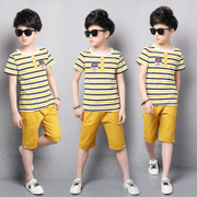 Kids Boys summer 2017 new children in short suit children Summer Cotton two piece boy.
