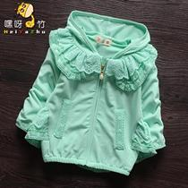 Girls 2017 new autumn coat children 3 up to 4 little girls top 5 spring windbreaker Andes 6 tide