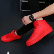 Summer men high shoes red shoes casual shoes breathable Korean sports shoes in the spring of the young students
