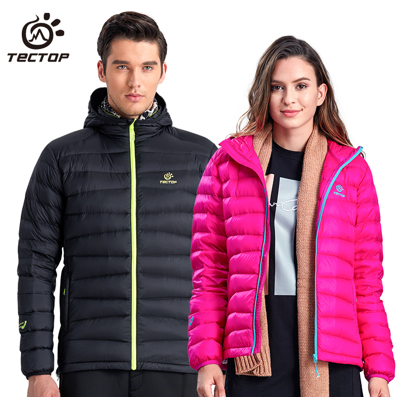 TECTOP Outdoor Down Garment for Men and Women Ultra-light and Ultra-thin Thermal Down Garment Long-sleeved Air-permeable White Duck Down Coat
