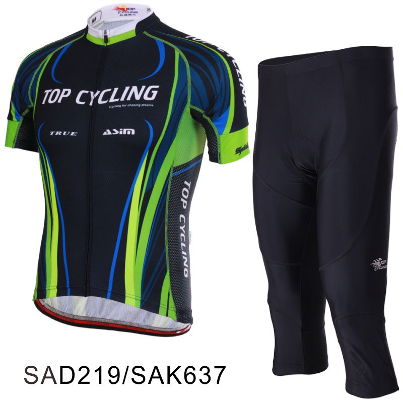 TOPCYCLING topography summer bicycle original yarn short-sleeved Jersey suit cropped trousers