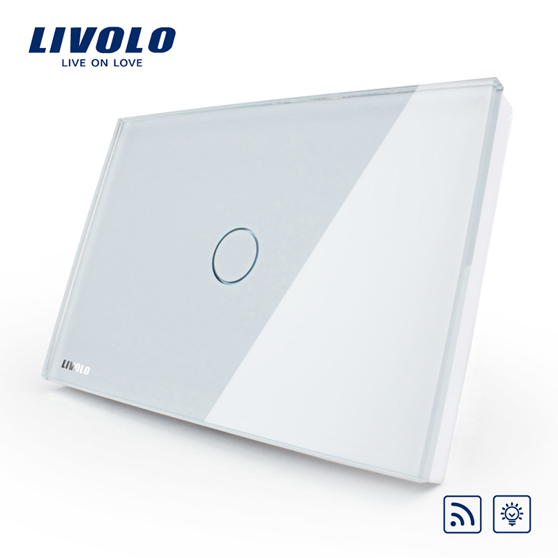 [The goods stop production and no stock]Livolo switch 118 touch switch smart home products / rectangular C8 white remote control dimmer switch