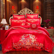 European wedding four sets of large red wedding bedding set of six pieces of quilt quilt new wedding bedding