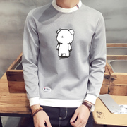 Long sleeved T-shirt man clothes - autumn clothing trend of Korean students with warm autumn cashmere sweater shirt