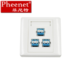 Pheenet Fenite LC3 port 86 fiber panel can be equipped with CommScope panel module does not contain flange