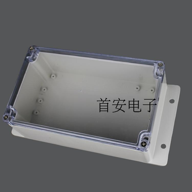 F1-2 plastic waterproof junction box 200*120*75 transparent cover with fixed installation waterproof outdoor enclosure