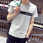 Short sleeved t-shirt men's summer half sleeved clothes on the Korean style Japanese fashion men's shirt