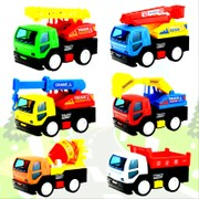 Cars, fire engines, cranes, excavators, mixers, excavators, toys, cars, children's toys, mini works