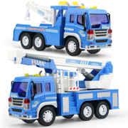 Car toy car inertia car road wrecker large excavator model light music music for children