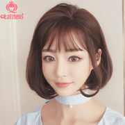 Seven Queen Street female hair wig Bobo head buckle Korea air natural pear head fluffy bangs