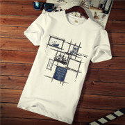 Short sleeved t-shirt men's cotton T-shirt half sleeve clothes in summer 2017 new men's t-shirt size t tide