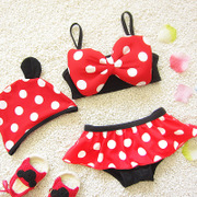 17 new split cartoon small dot Minnie bikini three sets of female baby children's baby swimsuit