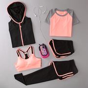 Spring and summer Yoga suits, women's running clothes, gym, three sets of speed, dry clothes, vests, trousers, shorts