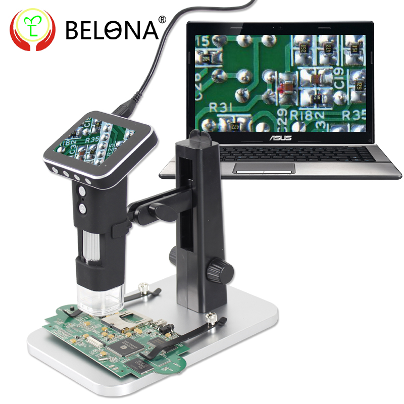 BELONA/Belang Handheld Digital Microscope Magnifier with LCD Screen for Computer Photography and Video Recording