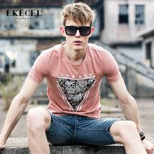 2 summer men's short-sleeved T-shirt Korean version of the trend of the half-sleeved round collar body shirt shirt shirt men
