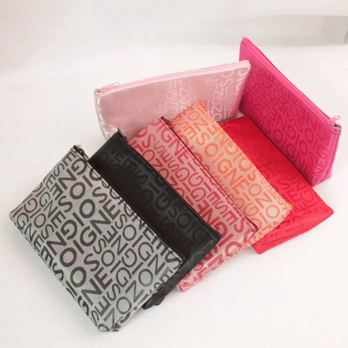 Korean letter cosmetic bag storage bag clutch bag pencil bag