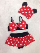Children's bathing suit girl lovely Minnie wave point small children swim swimsuit baby girl split bikini skirt swimsuit