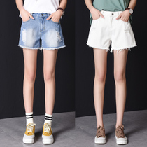 Hole female 2017 summer denim shorts new style size high waisted Korean easing students  autumn Flash hot pants boom