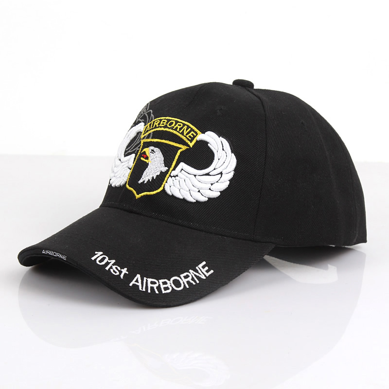 Free Knight Outdoor 101 Airborne Division Army Cap Men and Women Duck Tongue Cap Couple Tactical Printed Cap