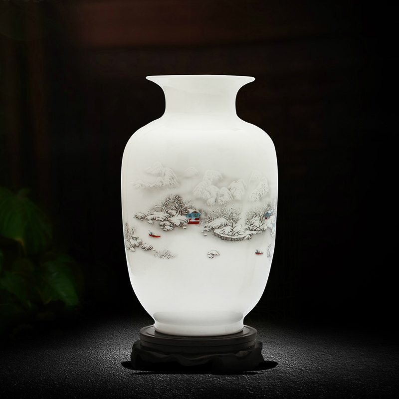 Jingdezhen ceramics small vase home jewelry decoration flower arrangement living room TV cabinet decoration crafts decoration j7