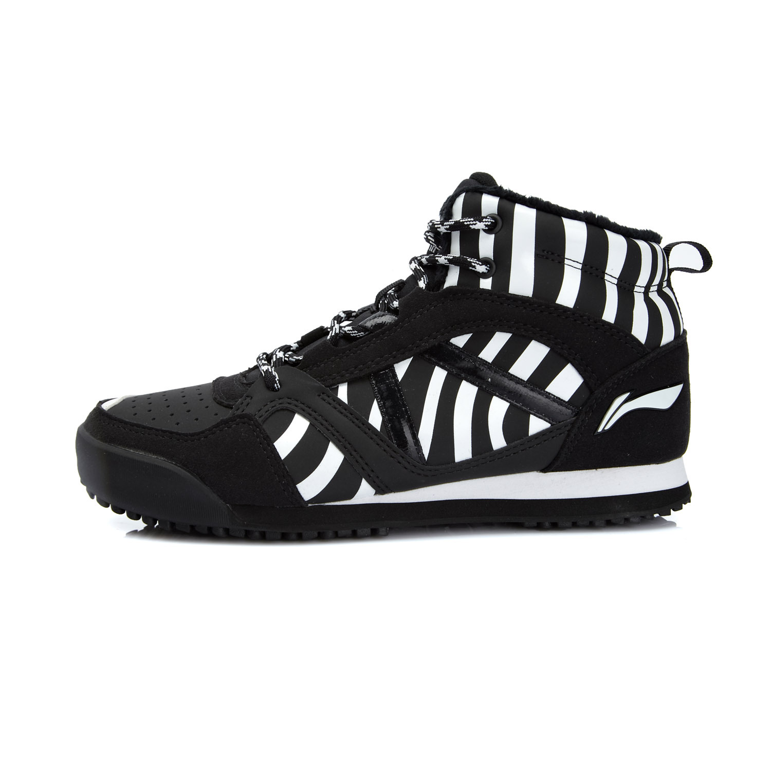 Li Ning authentic winter new style women outdoor flannel warm sports leisure shoes AHCK006