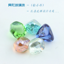 Tie-dyeing Diy Learning Material Package Tie-dyeing Special Molding Glass Bead Diamond Special-shaped Bead 3x3cm Each 5