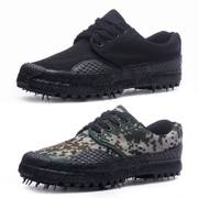 Outdoor wear non slip 07A training shoes military camouflage canvas shoes site safety shoe male military shoes