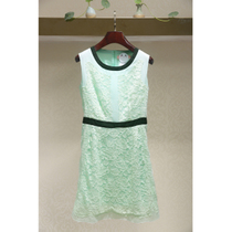 Few series ★ counter cut the European station summer women tide lace stitching sleeveless dress female 11-1