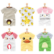 Baby clothes in summer 0 male female baby summer cotton 3 months newborn clothes 6 ha thin short sleeved at the age of 1