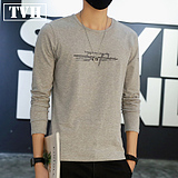 Long Sleeve T-Shirt Men's Spring Korean Slim Shirt Men's Tights Tops Young Casual Men's Clothing Clothes