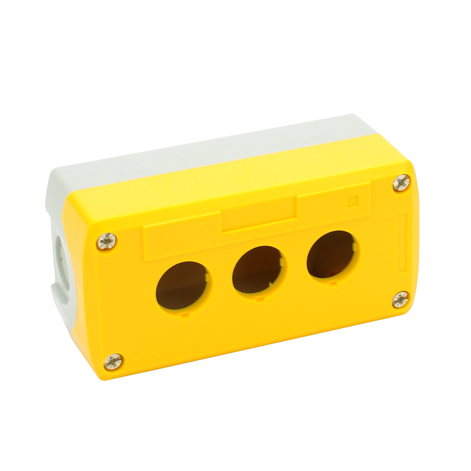 Plastic three-hole waterproof button box Emergency stop button switch control box