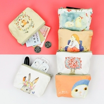 fashion mini handmade bag pure head layer leather leather creative gift cute little small cute little purse female student mini coin bag fabric cute simple portable portable handbag small wallet