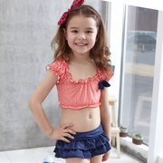 2016 new children's Bikini Swimsuit split skirt type two piece small and medium-sized girls Baby Beach Spa swimwear