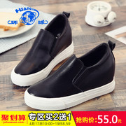 The new increase in spring 2017 global shoes loafer thick soles muffin white shoe shoes female students.