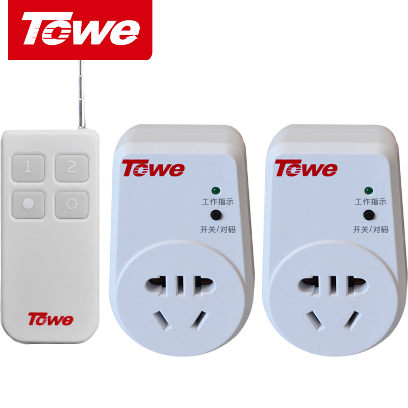 TOWE is the same as 10A socket of remote control switching power supply. Two remote control wireless intelligent 220V can penetrate the wall for a long distance.