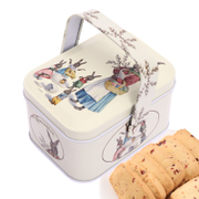 Tmall supermarket TC Cranberry cookies portable rabbit iron box handmade casual snack food 80g