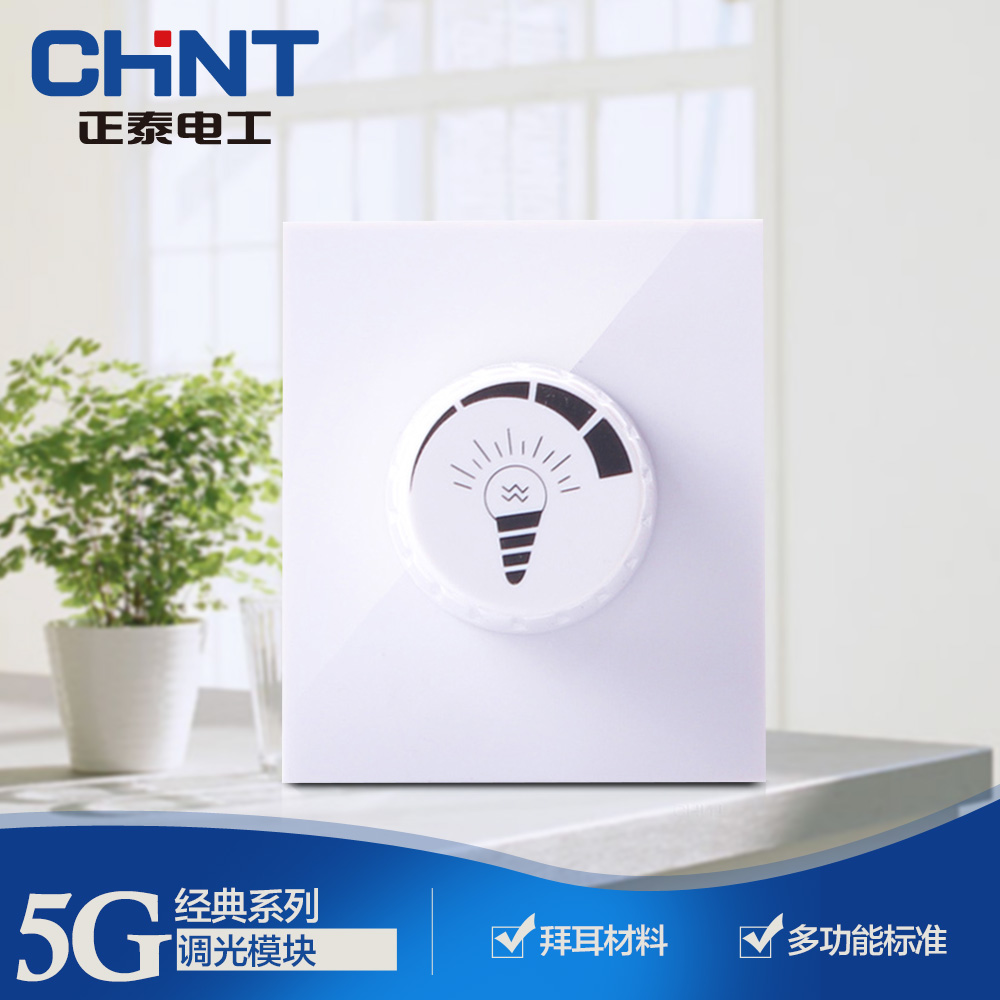 CHINT switch socket 118 type wall switch NEW5G occupy one dimming module
